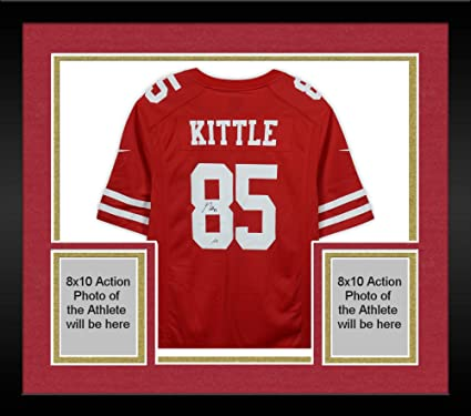 new product 649ee 0d8c4 Framed George Kittle San Francisco 49ers Autographed ...