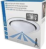 LED's light 800503 Plafonnier LED avec détecteur de mouvement 15W 1200lm Blanc chaud 3000K IP20