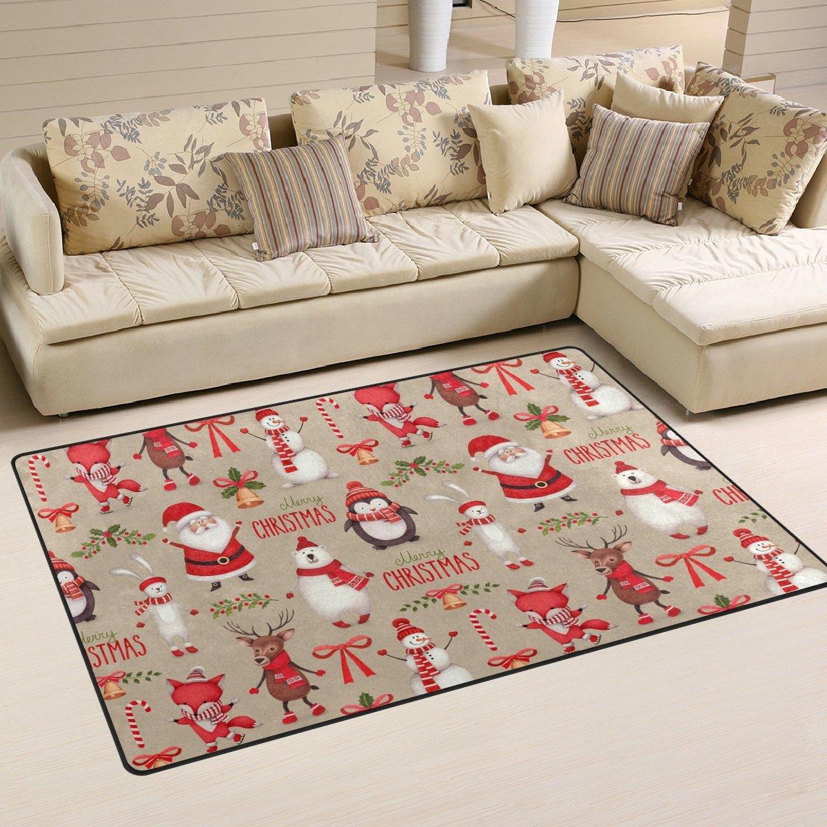Un tappeto natalizio in soggiorno