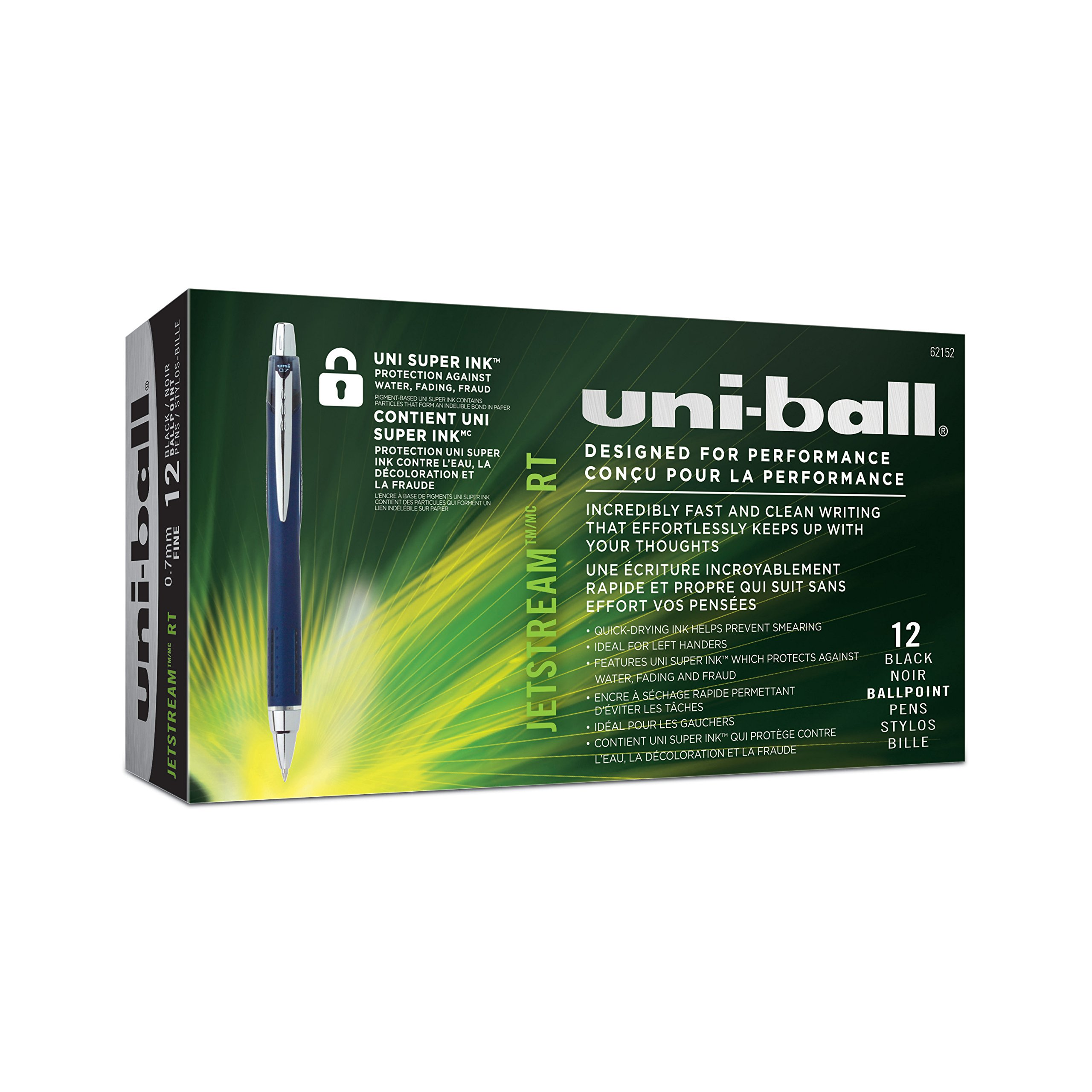 uni-ball Jetstream RT Ballpoint Pens, Fine Point (0.7mm), Black, 12 Count by Sharpie (Image #8)
