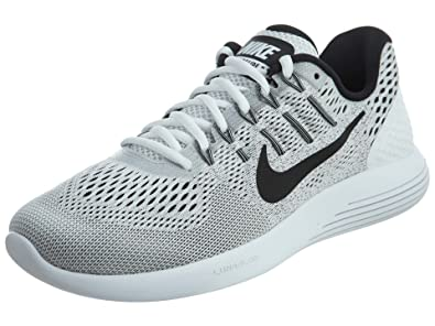 separation shoes eecfa 6ec1a Nike Mens Lunarglide 8 White Black Wolf Grey Nylon Running Shoes 7.5 M US