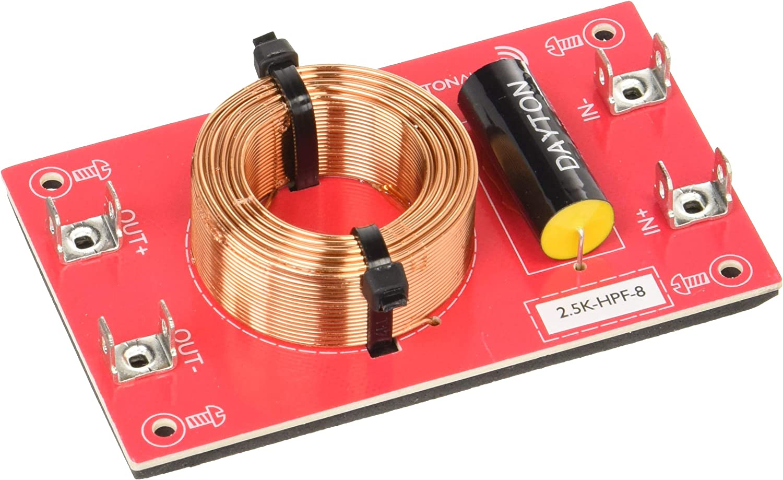 Dayton Audio 3k-HPF-8 High Pass Speaker Crossover 3,000 Hz 12 dB//Octave