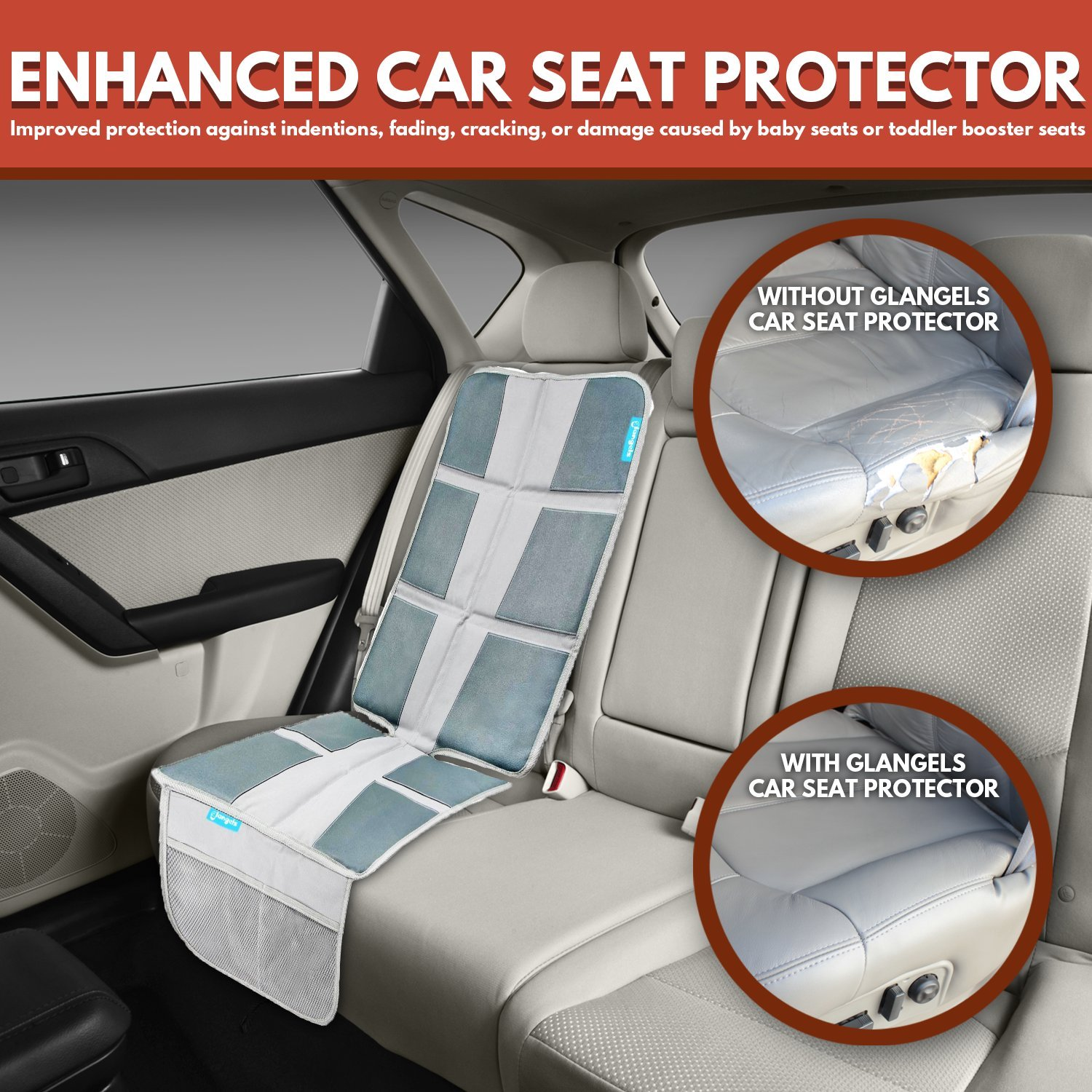 Car Seat Protector Under Baby Carseat Extra Padded For XL Size WaterproofDurable