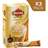 Moccona Coffee Caramel Latte - 10 Individuals Sachets (140g x 3 Packs)