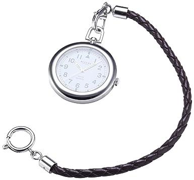 Taschenuhren modern  Regent Taschenuhr Regent Quartz verchromt m. Kordel u. Tasche ...