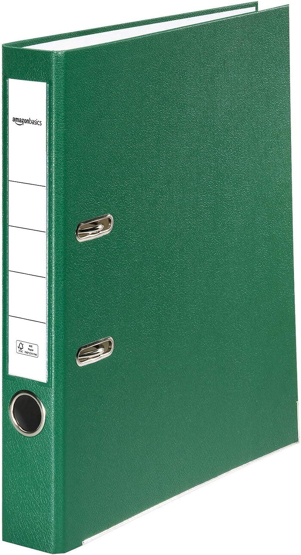 dorso di larghezza 80 mm inserto personalizzabile sul dorso Basics copertina in polipropilene certificazione FSC nero A4 confezione da 10 Registratore a leva con anelli D