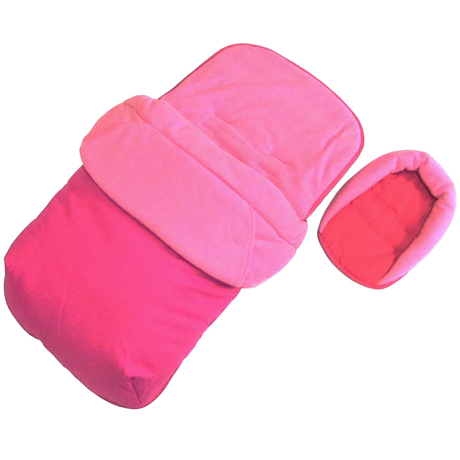 Baby Travel Footmuff and Head Hugger Universal Fit (Pink) BT303