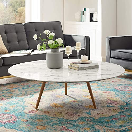 Modway Lippa 47 Mid-Century Modern Round Coffee Table