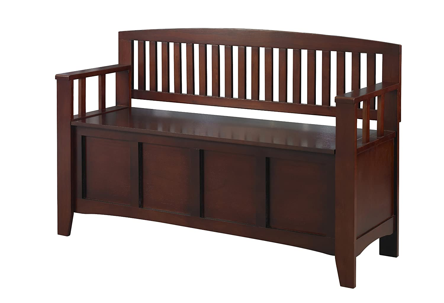 Bedroom bench with arms - Linon Home Decor Cynthia Storage Bench