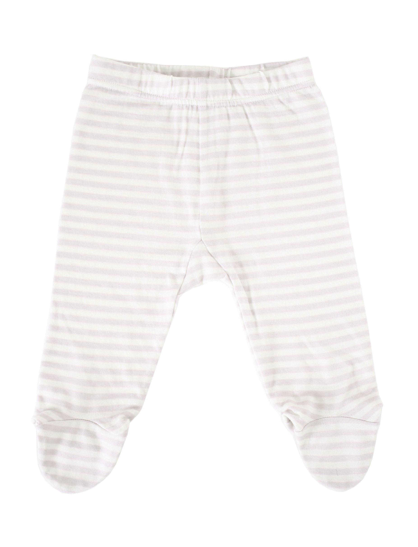 Woolino Unisex Baby Footed Romper Pants, 100% Superfine Merino Wool, 3-6 Months, Beige