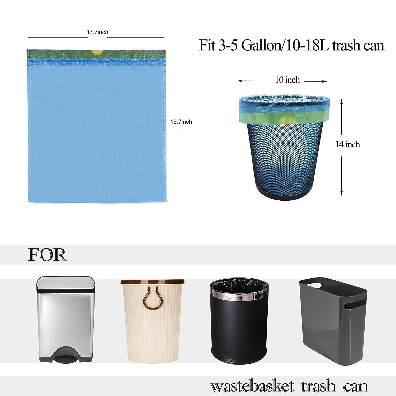 Amazon 4 gallon small trash bags blue 100 counts for
