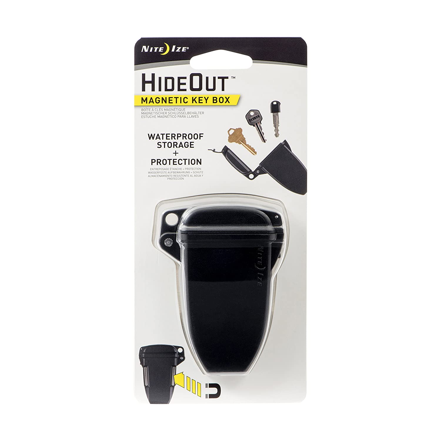 Nite Ize Hideout, Waterproof Magnetic Key Hider Attaches to Metal and Non Metal Surfaces KBS-01-R7