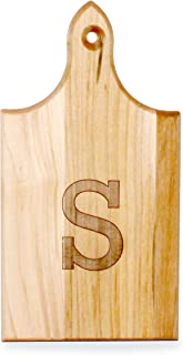 product image for J.K. Adams Q-Tee Cut-Up Sugar Maple Wood Cutting Board, 7-1/2-inches by 4-inches, Alphabet Series, S