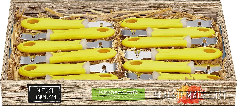 28 x 28 x 18 cm Argent//Jaune Kitchen Craft /Écorce de Citron Grattoir Acier Inoxydable