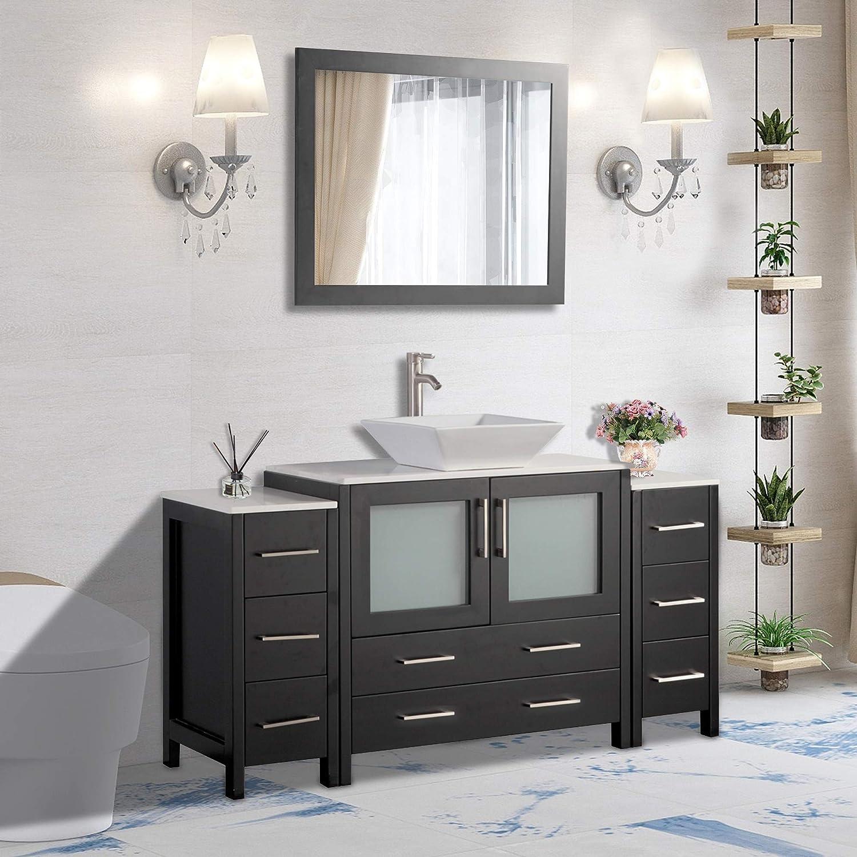 Amazon Com Vanity Art 60 Inch Single Sink Small Bathroom Vanity