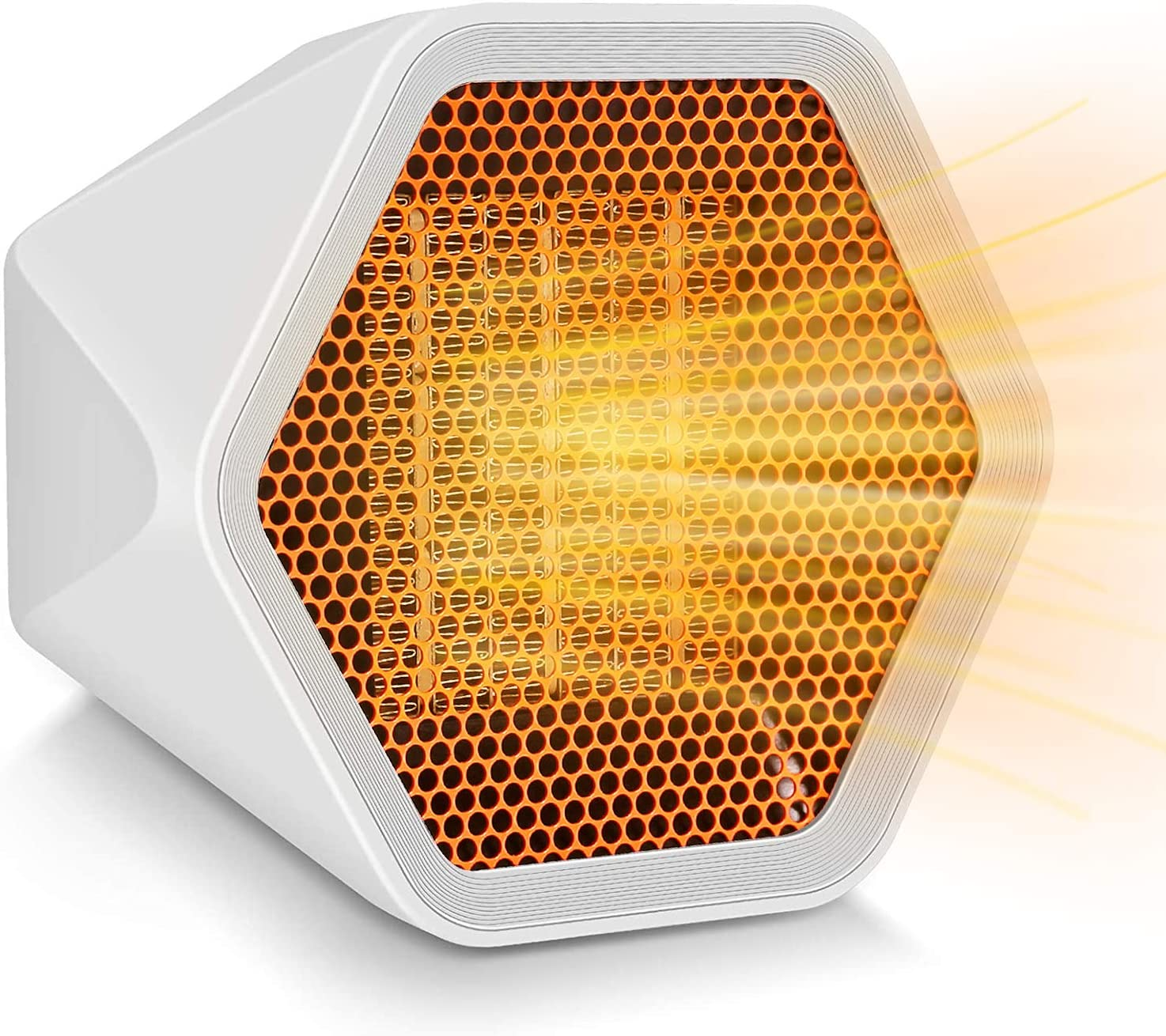 Sorlakar Eletric Space Heater,1000W Small Heater Ceramic Space Heater with Overheat Protection,Heat Up in Minutes for Home Office Floor or Desktop (Modern White)