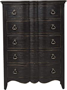 Liberty Furniture INDUSTRIES Chesapeake 5 Drawer Chest, W40 x D19 x H54, Black