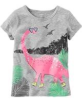 Carter's Girls' 2T-8 Dinosaur Skates Tee