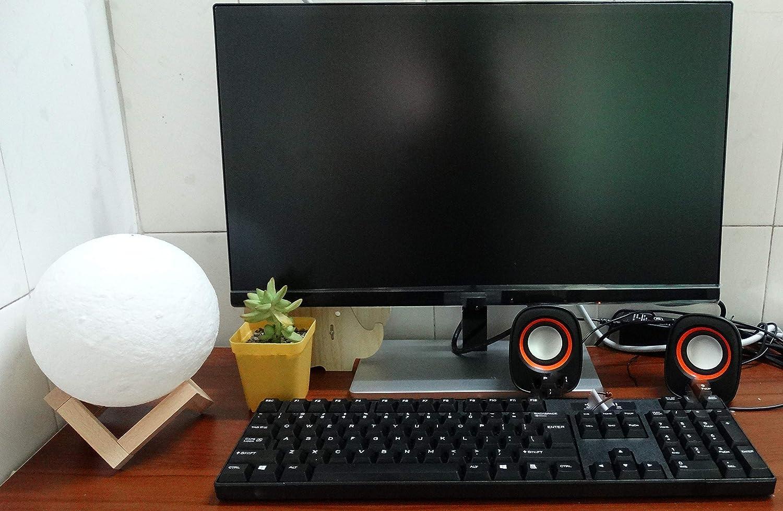 2 Colores Ajustables-18CM Lampara de Luna Foto,XYEU 3D luz Nocturna Personalizada,Control T/áctil,USB Recargable