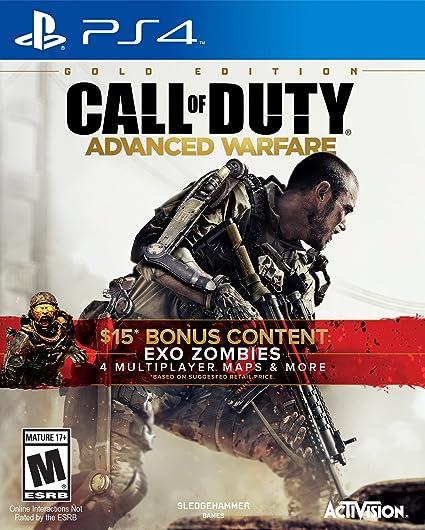 Amazon Com Call Of Duty Advanced Warfare Gold Edition Playstation 4 Activision Inc Video Games