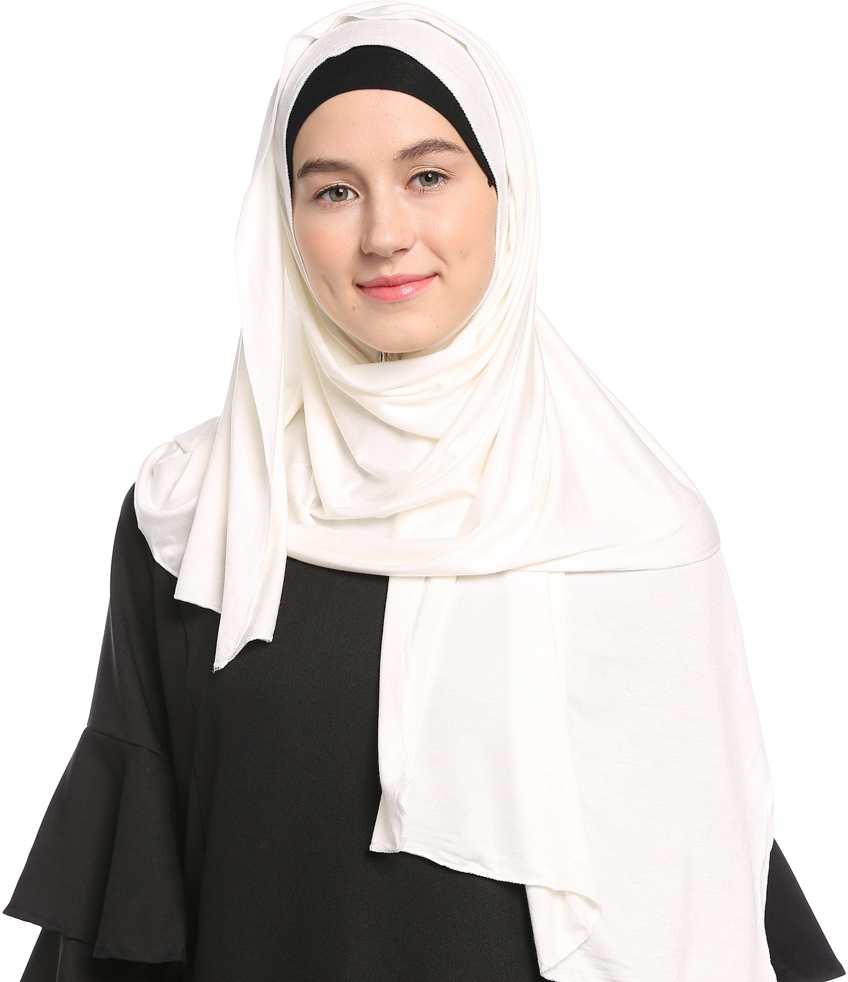 Ababalaya Womens Lightweight Cotton Jersey Hijab Scarves Shawls