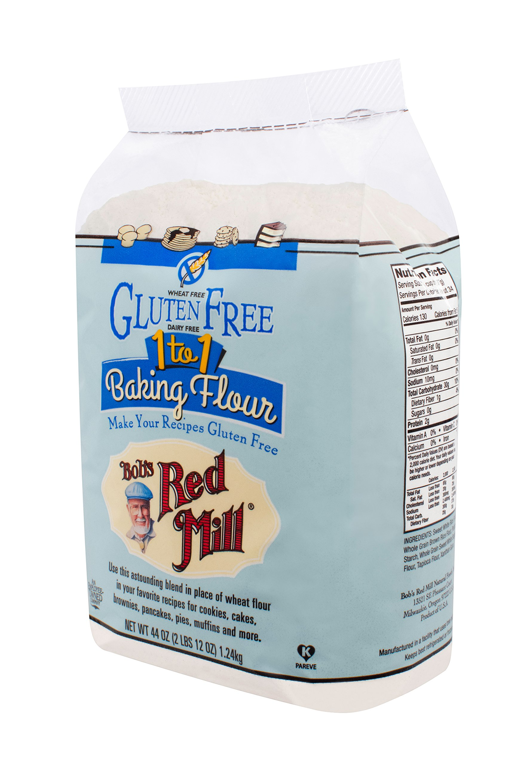 Bob's Red Mill Gluten Free 1 to 1 Baking Flour, 44 Ounce (Pack of 4) by Bob's Red Mill (Image #9)