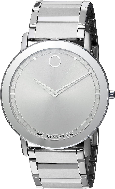 Movado Men s 0606881 Analog Display Swiss Quartz Silver Watch