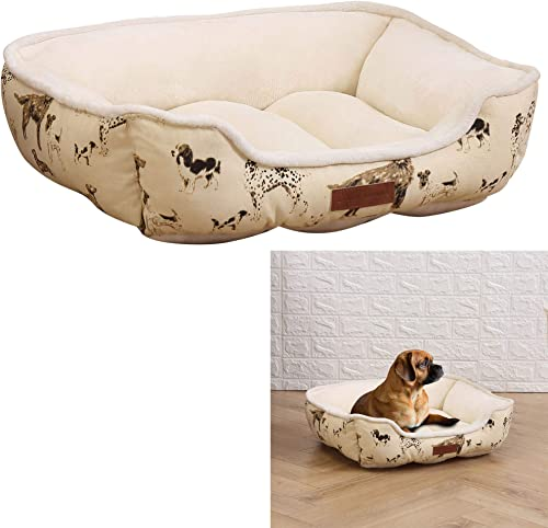 HowPlum Laura Ashley Pet Bed Cuddler Washable Medium Cozy Soft