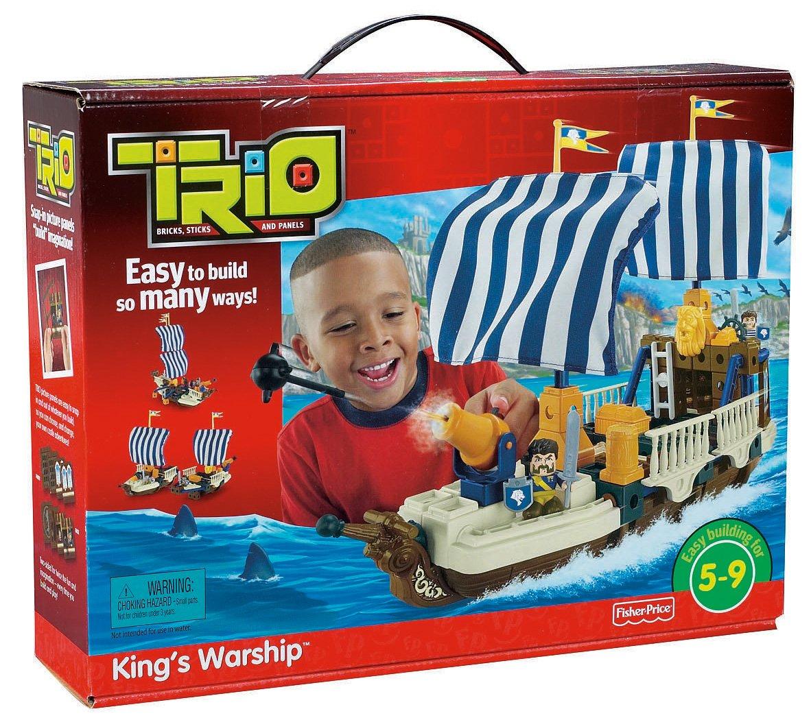 amazoncom fisherprice trio king's warship toys  games -