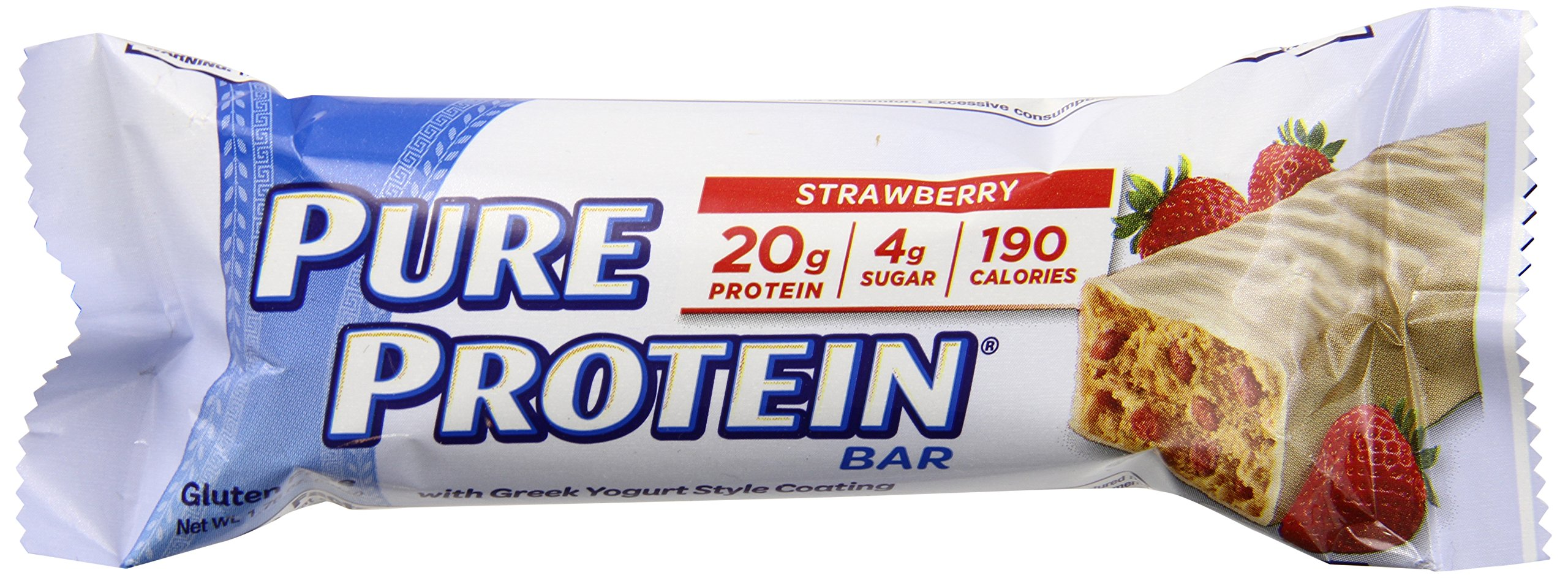 Pure Protein High Protein Bar Strawberry Greek Yogurt Protein Bars 20 Grams of Protein per Bar Gluten Free 6-2.75-Ounce Bars