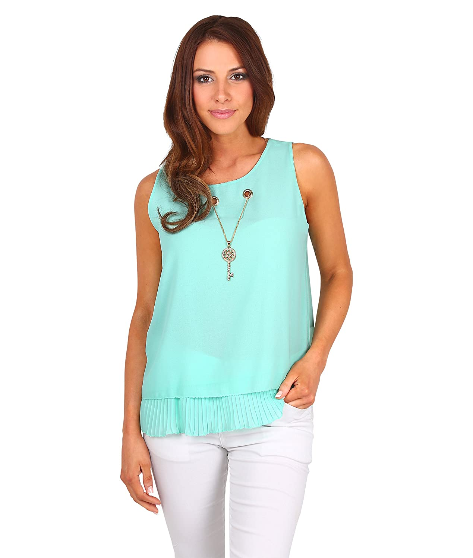 ff79821252 hot sale 2017 KRISP Top Mujer Verano Blusa sin Mangas Volante Camisa  Transparente Camiseta