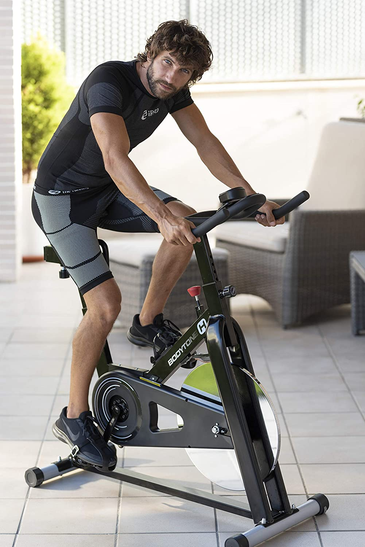 BT BODYTONE DS10 Bicicleta de Ciclo Indoor para Fitness y Spinning - 18kg Rueda de inercia - Display - Materiales de Primera Calidad - Peso Máximo Usuario 100 KG.: Amazon.es: Deportes y aire libre