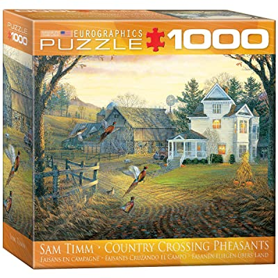 EuroGraphics Country Crossing Pheasants Puzzle (1000-Piece): Toys & Games
