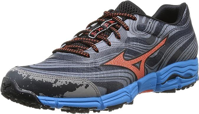Mizuno Wave Kazan - Zapatillas de Running para Hombre, Color Gunmetal/Tangerine Tango/Diva Blue, Talla 41: Amazon.es: Zapatos y complementos
