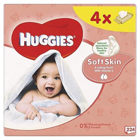 Huggies Soft Skin Toallitas para Bebé - 4 Paquetes