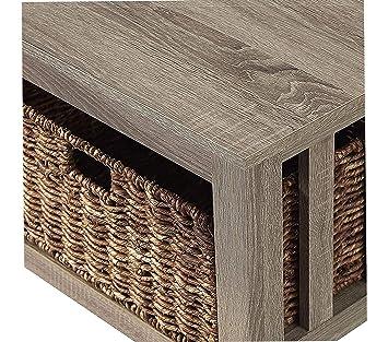 Amazoncom Furniture 40 Wood Storage Coffee Table With