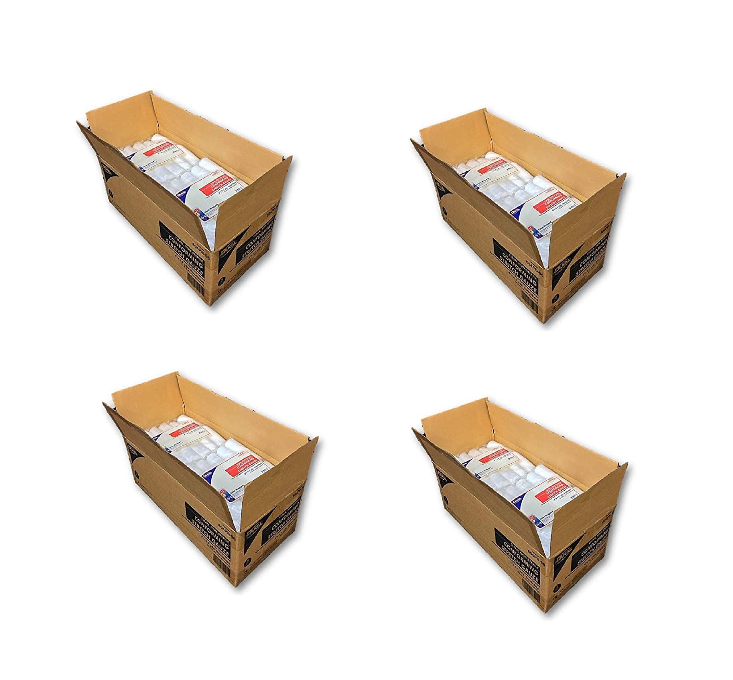 Case of Conforming Stretch Gauze, 96 Clean Wrapped Rolls, 4''x4.1yds (4 Pack)