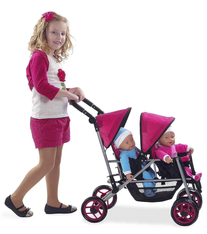 Amazon.es: Muñecas Arias - Silla Muñeca Gemelos Mammy&Baby 36X55X72 61-40319 (surtidos: colores aleatorios): Juguetes y juegos