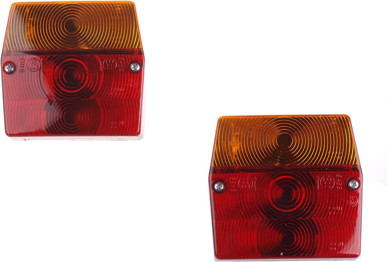 Wamo 2 X Rückleuchte Für Anhänger Je 1 Mit Und Ohne Kennzeichenbeleuchtung Auto