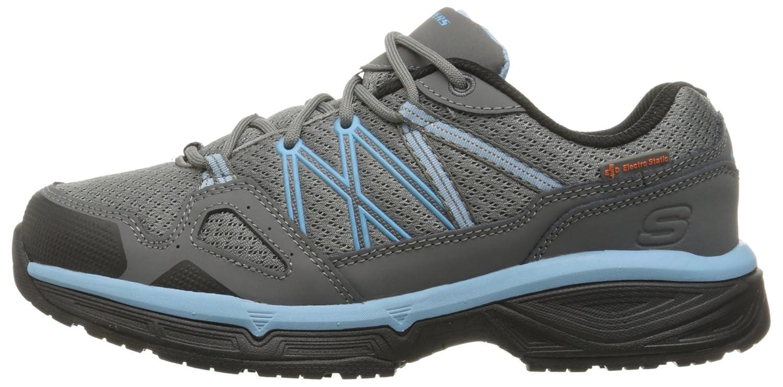 Skechers for Work Women's Conroe Abbenes Slip Resistant Shoe B01B5O9WIU 9.5 B(M) US Gray/Blue