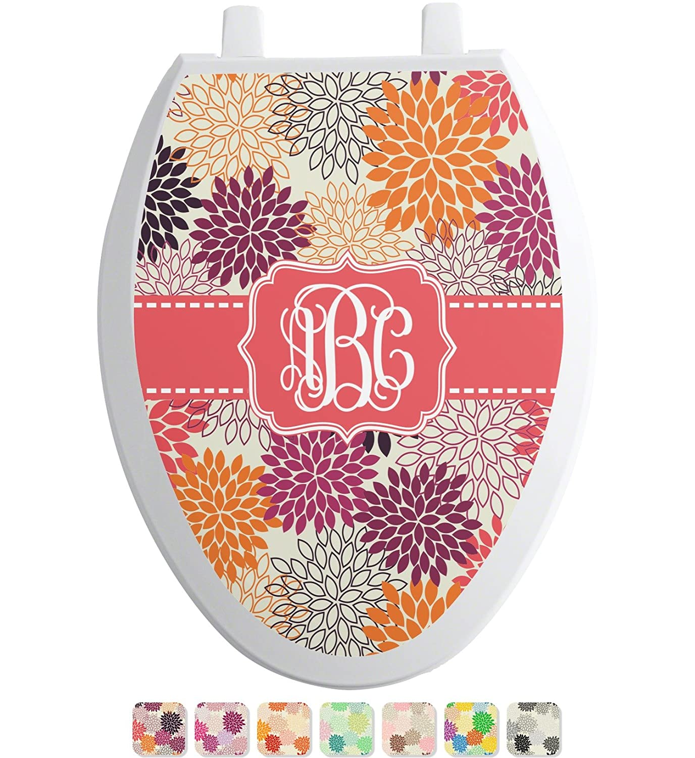70%OFF Mums Flower Toilet Seat Decal - Elongated (Personalized)