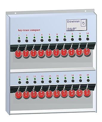 Key de gestión Trace 20 llaves, 20 individualmente verriegelte puestos de llave, rojo,