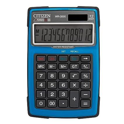 Citizen 7238034 Outdoor 3000 - Calculadora de mesa (resistente al ...