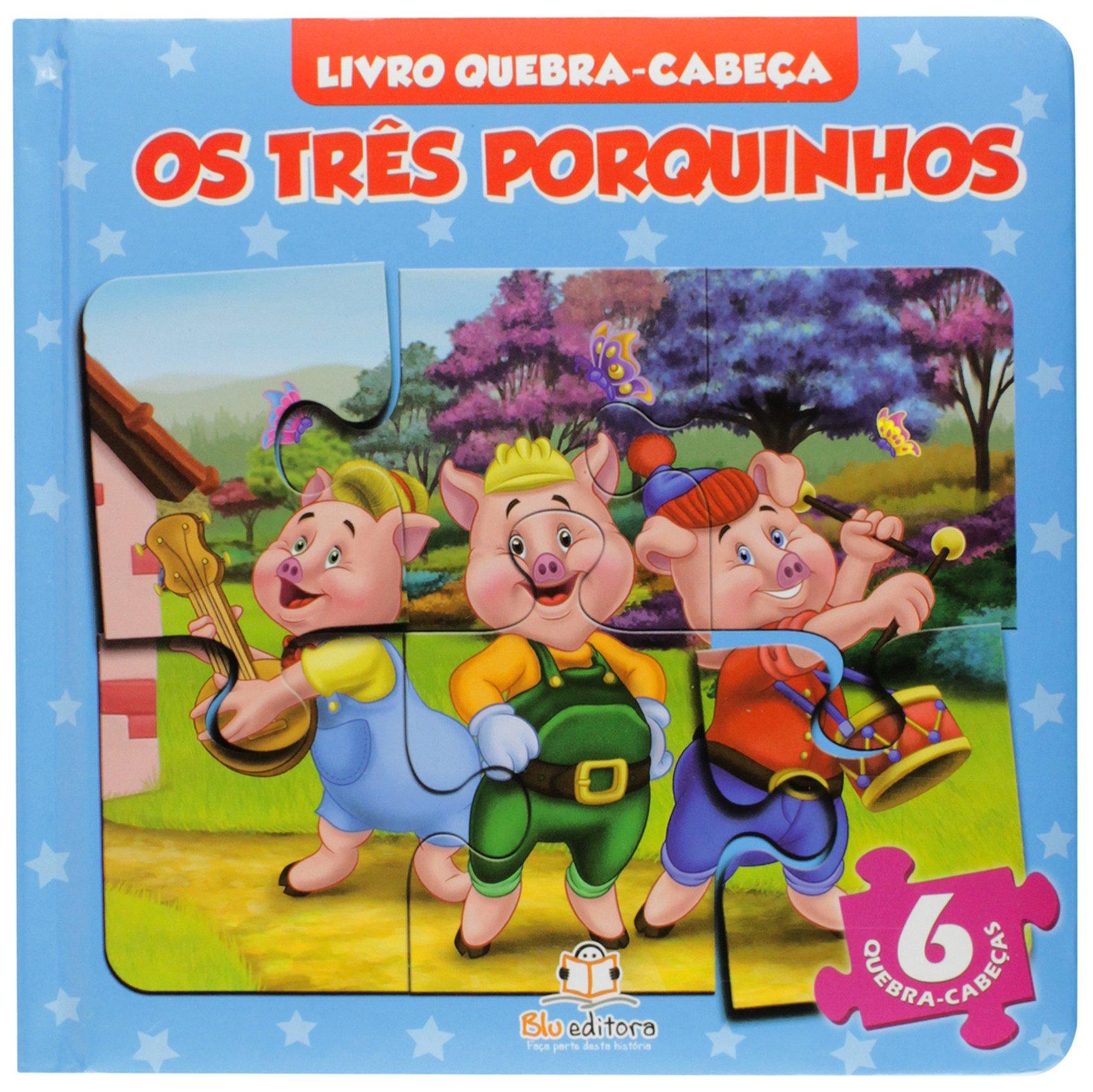 Livro Quebra-Cabeça Pequeno. Os Três Porquinhos