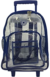Amazon.com: Clear Backpack With Wheels: Shoes