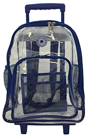 Amazon.com | Rolling Clear Backpack Heavy Duty See Through Daypack ...