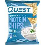 Quest Nutrition Tortilla Style Protein Chips, Ranch, Baked, 1.1 Ounce (Pack of 12)
