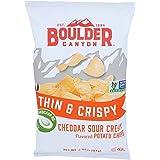 BOULDER CANYON Thin & Crispy Cheddar Sour Cream Potato Chips, 6 OZ