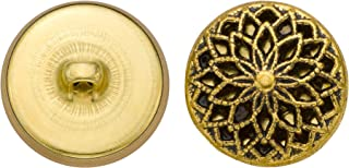 product image for C&C Metal Products 5353 Filigree Metal Button, Size 36 Ligne, Antique Gold, 36-Pack