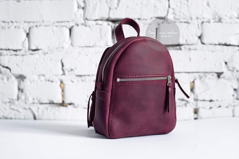 c7b20c937fa Amazon.com: BURGUNDY backpack, Small backpack, vintage backpack ...